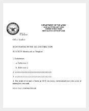 Army Professional Memo Reccords for Office Purpose Form Download