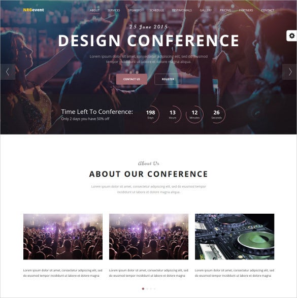 conference music event wordpress template