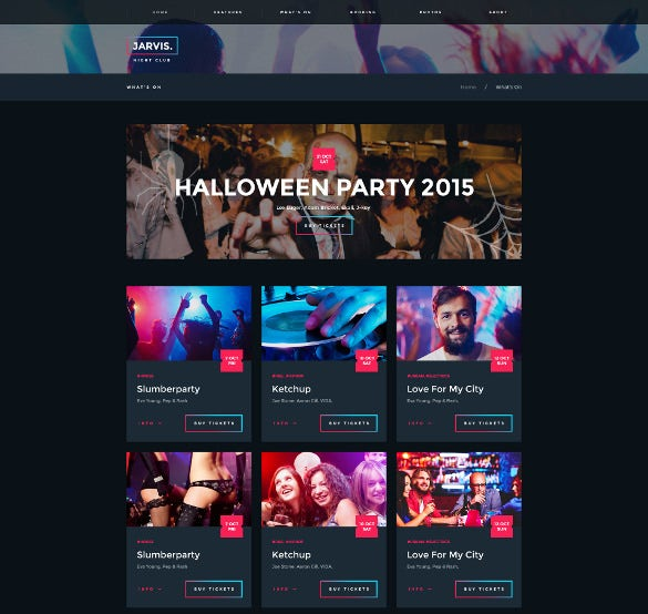 night club music event festival wordpress template