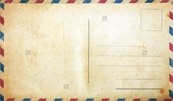 Perfect What Is A Postcard Or A Letter Without These Classic Borders? Add A Vintage  Look To Your Postcard By Downloading This Template. Youu0027ll Have Sufficient  Space ... With Postcard Templates Free