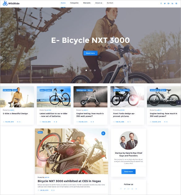wildride cycling sports wordpress theme