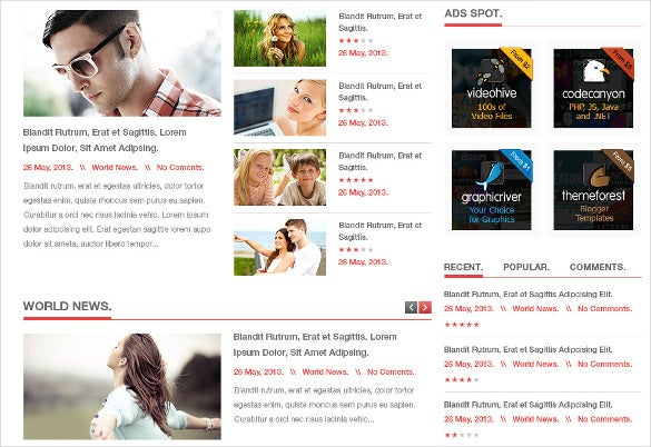 news wp psd theme