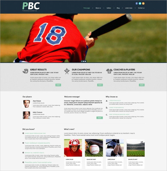 baseball responsive sports wordpress theme