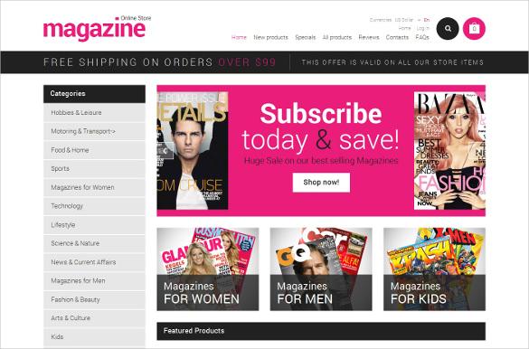 news portal zencart psd template