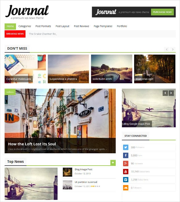 news journal psd theme