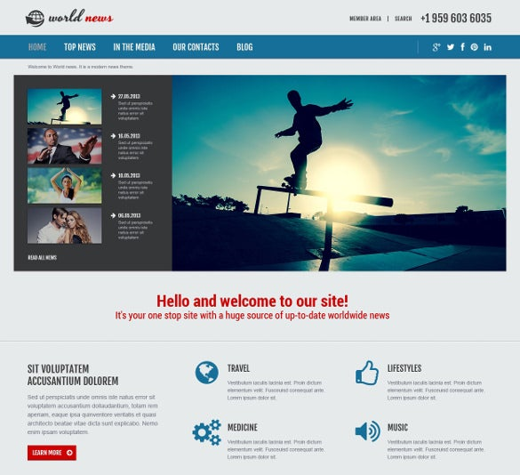 news portal responsive joomla psd template