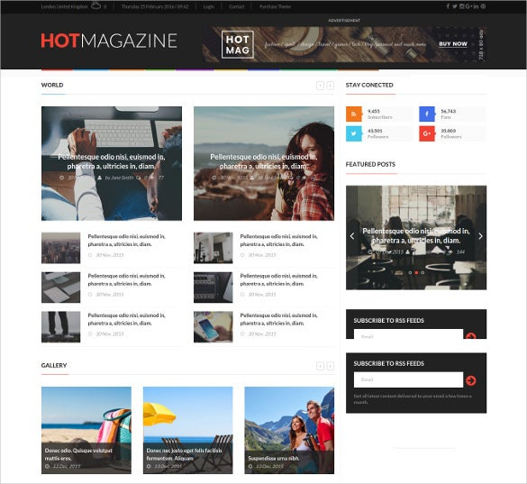 sports news magazine wordpress theme