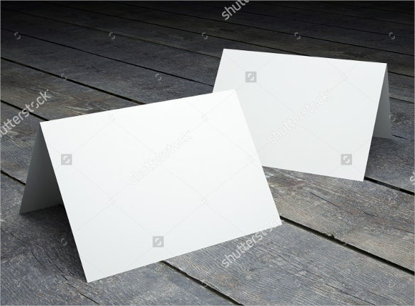 blank template of folded postcard