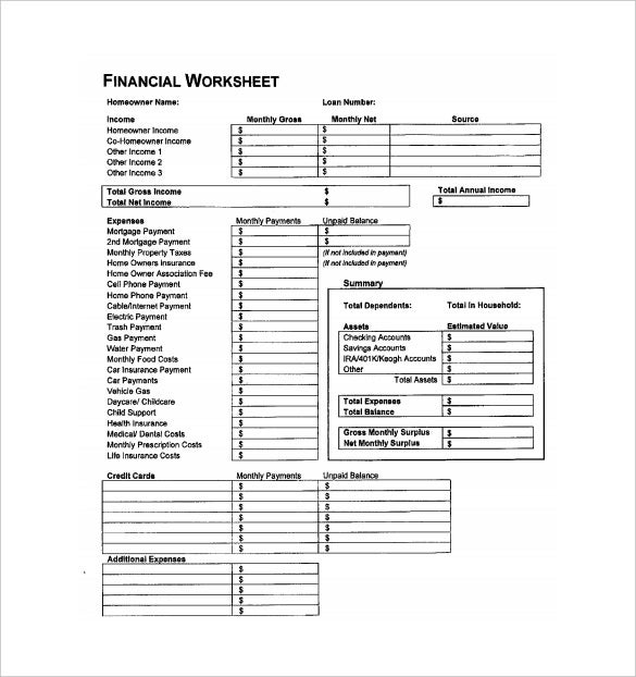 financial accounting spreadsheet pdf template free download