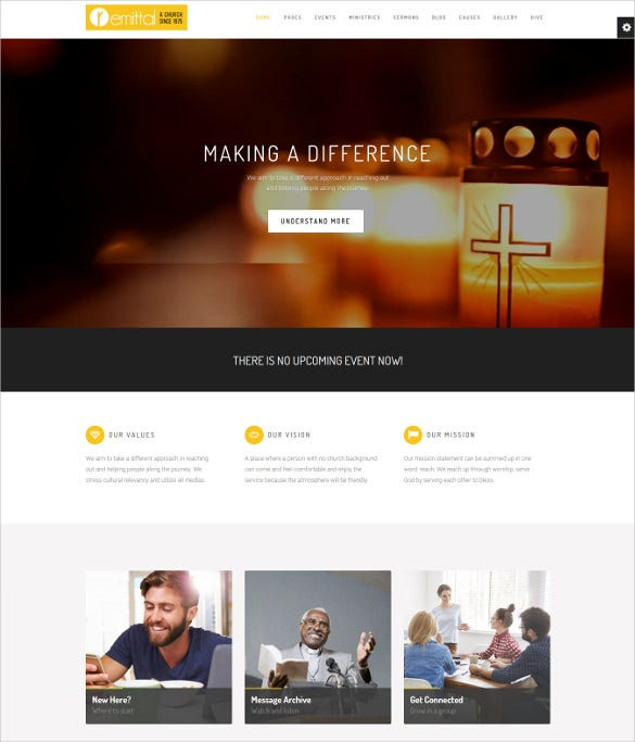 responsive pod caster church wordpress theme