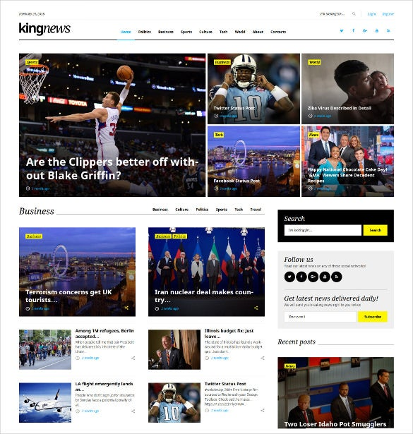 news magazine blog wordpress theme