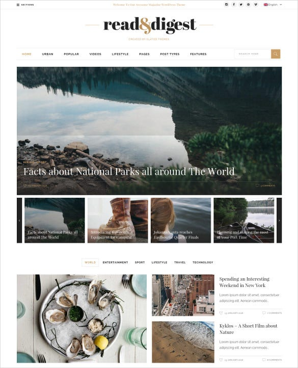 newspaper news blog wordpress template