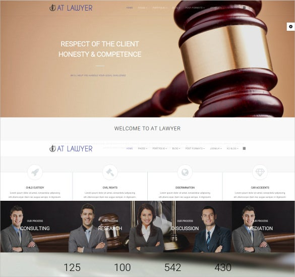 client law legal joomla template