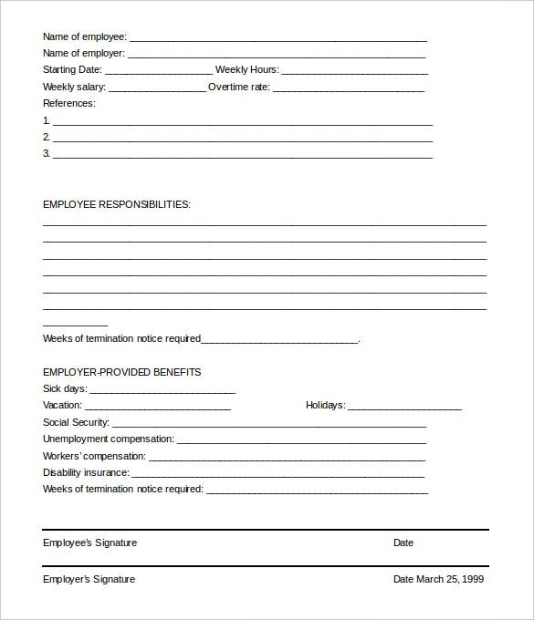 photo about Printable Employee Termination Form called Staff Termination Letter - 9+ Cost-free Phrase, PDF Information