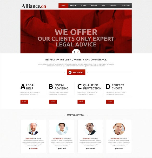law legal responsive joomla template