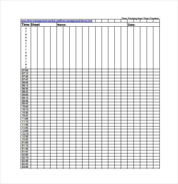 time tracking spreadsheet pdf template free download