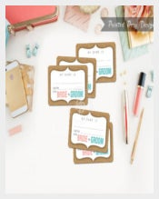 Printable Wedding Event Name Tag Template