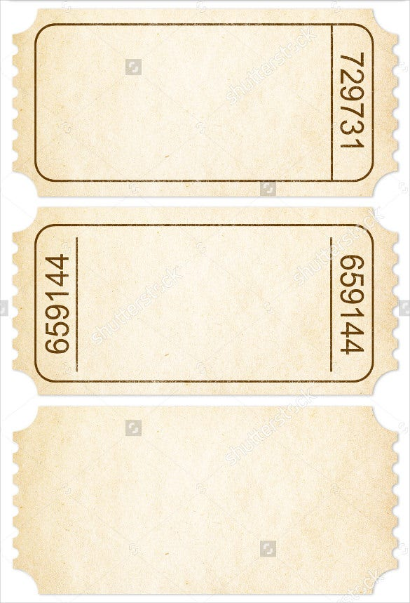 Blank Ticket Template 21 Free PSD Vector EPS AI Word Format – Blank Tickets Template
