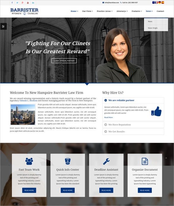 responsive law legal joomla html5 template