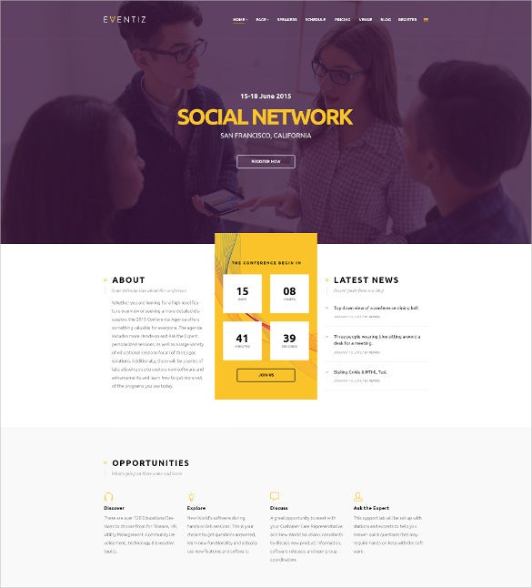 conference event responsive wordpress theme