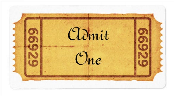 Old Blank Admission Ticket Shipping Label  Blank Ticket Template