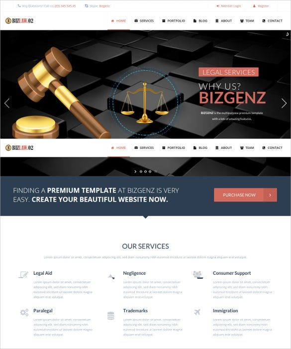 premium law legal joomla html5 template