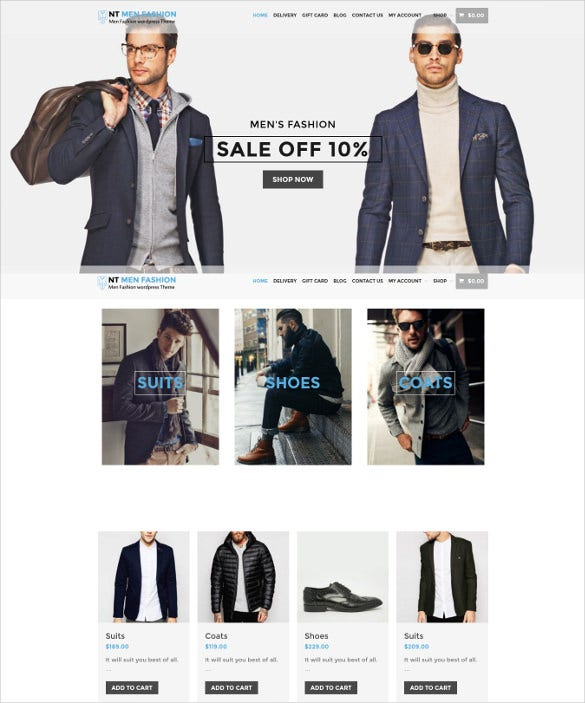 simple fashion event wordpress template