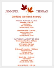 Free Download Wedding Itinerary