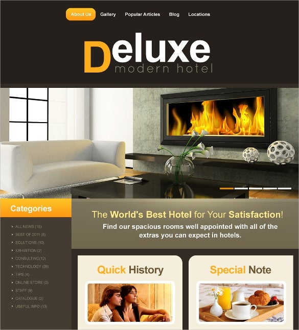deluxe hotel wordpress template