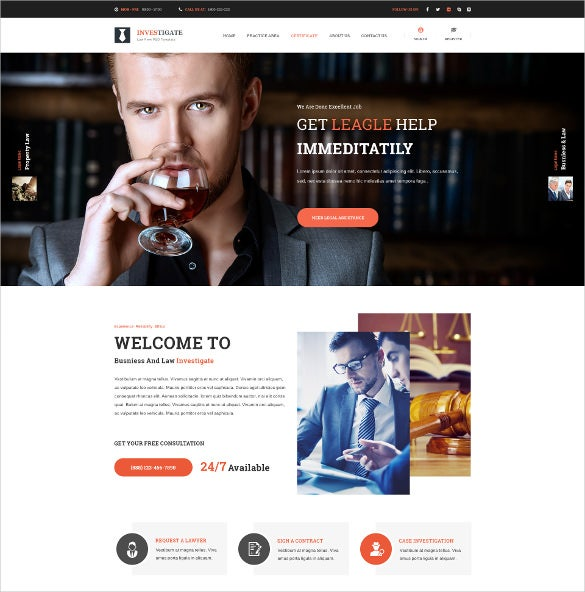 law legal attorney psd joomla template
