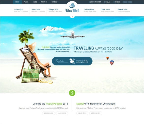 hotels tours wordpress theme