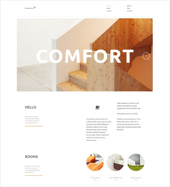 travelers accommodation wordpress template