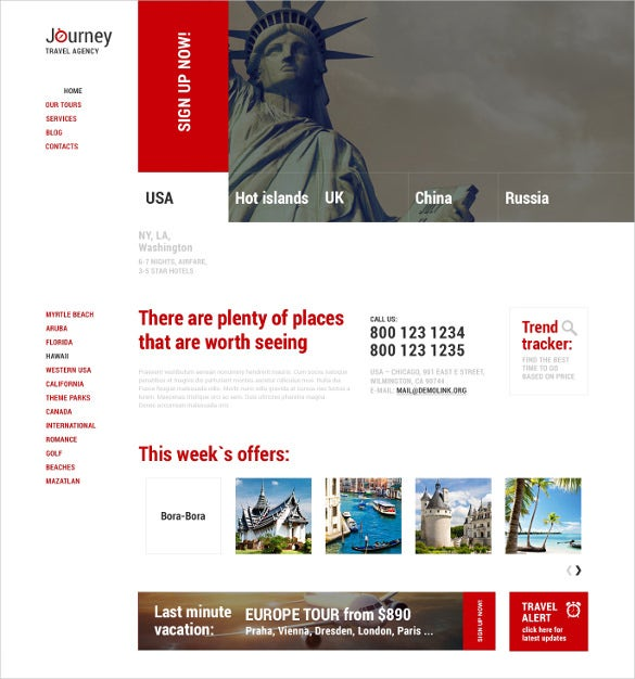 premium travel agency responsive wordpress theme