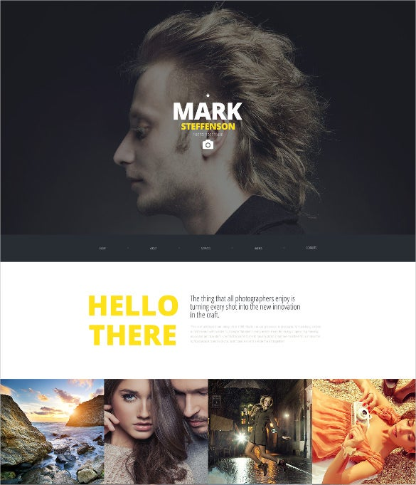 personal photography wordpress template