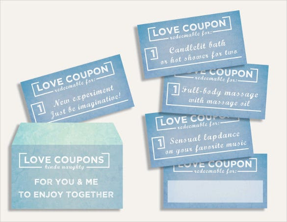 Free sexy coupons for my lover