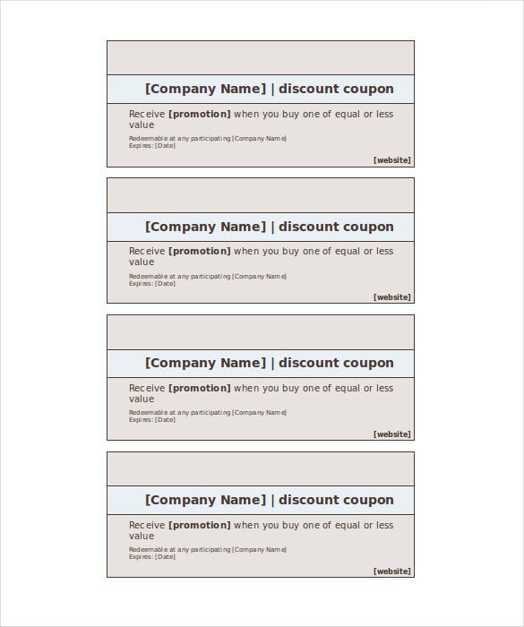 Coupon format for word - Nike discount coupons