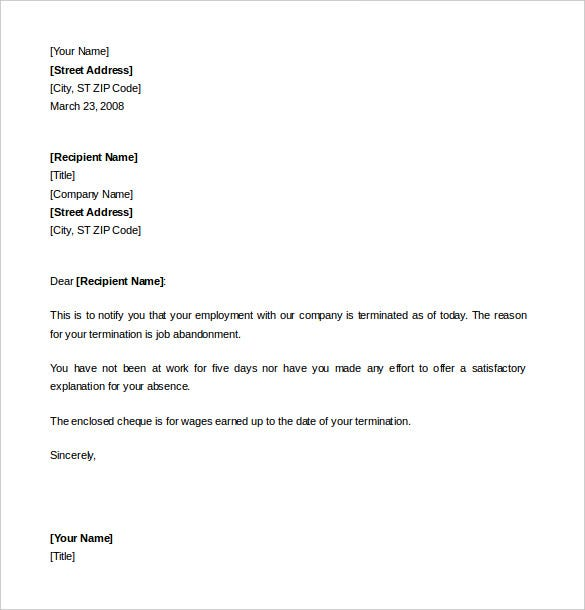 15+ Job Termination Letter Templates – Free Sample, Example Format ...