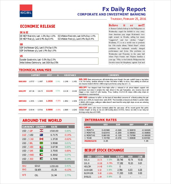 Doc585650 Daily Report Format 10 Daily Report Templates Free – Daily Performance Report Format