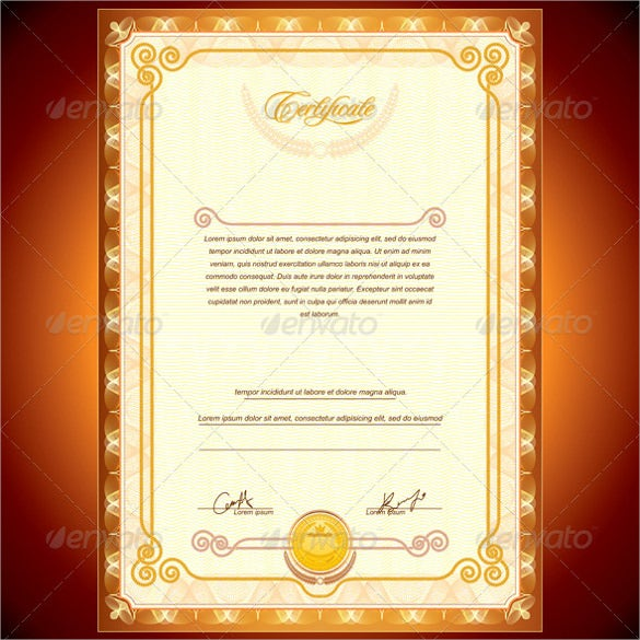 36 Blank Certificate Template Free Psd Vector Eps Ai Format