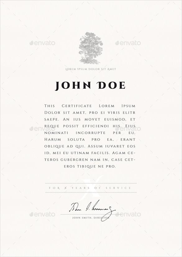 blank certificate in ai format