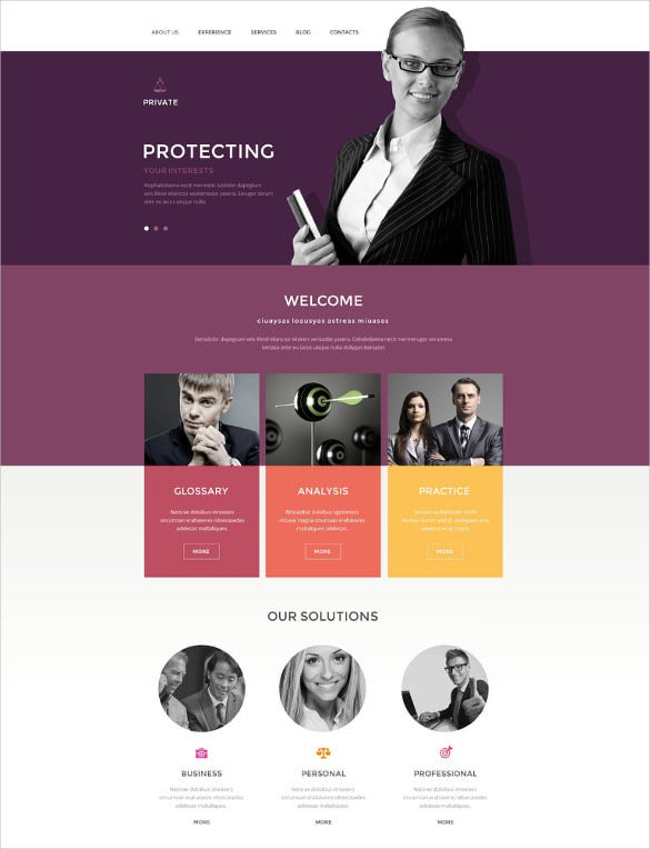 law legal office drupal template