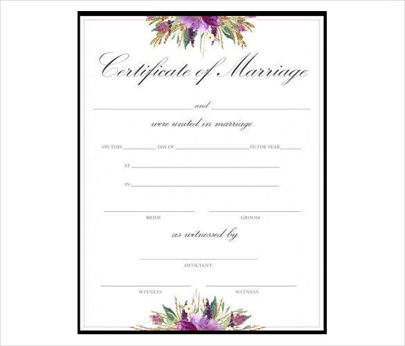 Free marriage certificate template tiredriveeasy free marriage certificate template yadclub Choice Image