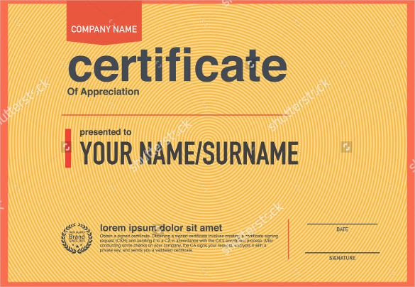 modern design blank certificate