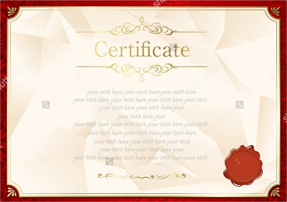 blank certificate template free download wwwpixshark