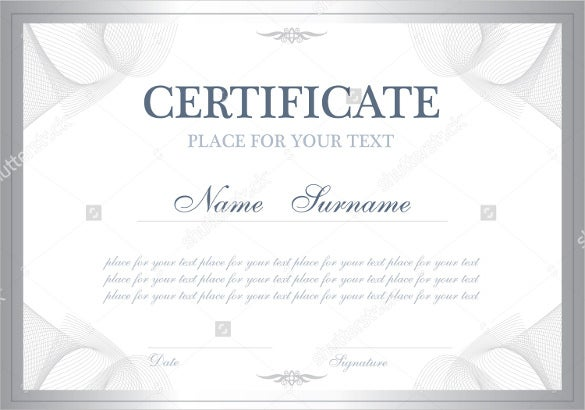 Blank Certificate Template  Free Psd Vector Eps Ai Format