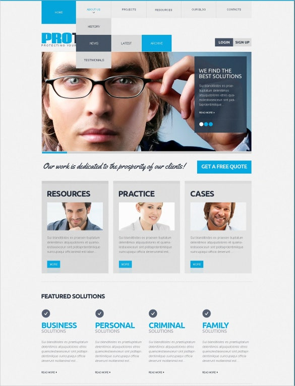 law legal multipurpose drupal template