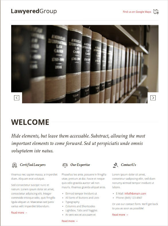 responsive retina law legal drupal template