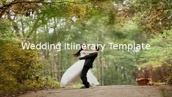 weddingitinerarytemplate