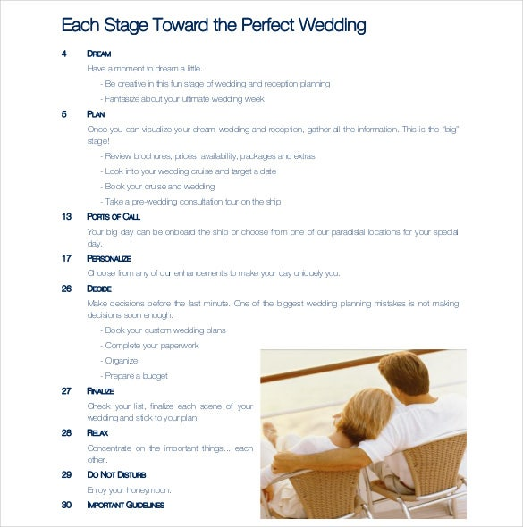 celebrity wedding vow renewals sample itinerary