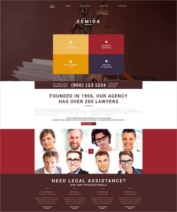 law legal adviser joomla drupal template